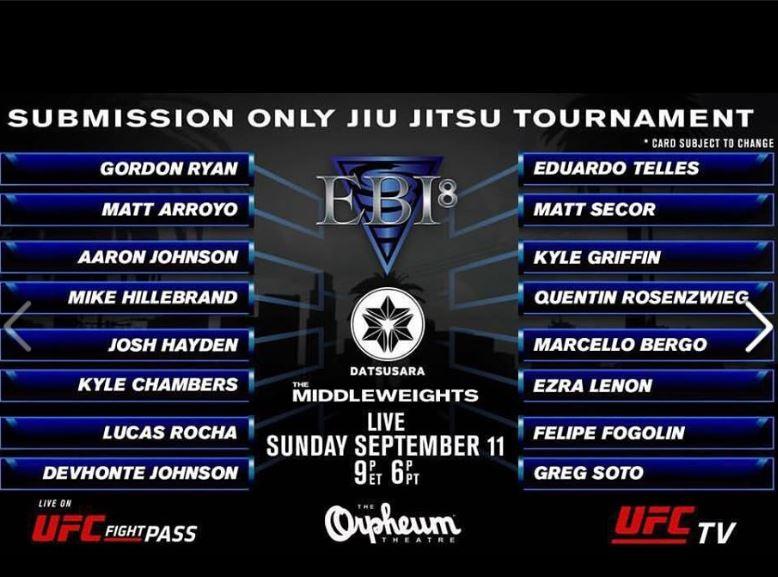 EBI 8 Tournament with Josh Hayden Sept11 16
